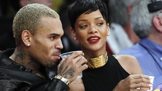 Rihanna and Chris' festive date