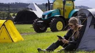 Wifi tractor for Glastonbury fans