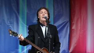 Macca hires Fab Four tribute band?