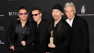 U2 fundraise and win Golden Globe