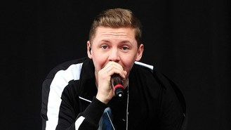 Professor Green lashes out at label