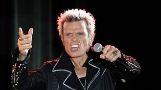 Billy Idol plays at fan's birthday