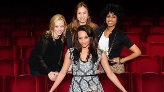 Cast of Spice Girls musical meet up
