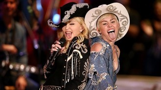 Madonna duets with pretender Cyrus