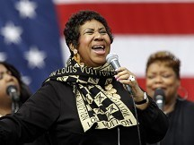 Aretha Franklin spots piano talent