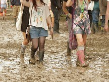 Glastonbury off to a muddy start