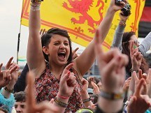 Revellers dance out T In The Park