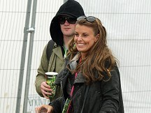 Wayne and Coleen join Glasto party