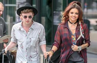 Jake Roche accompanies girlfriend Jesy Nelson in London