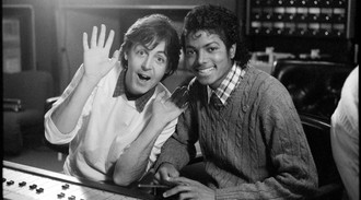 Sir Paul McCartney switches vocals with Michael Jackson for Say Say Say remix