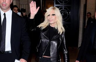 Donatella Versace plays unreleased Prince song at fashion show