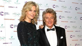 Rod Stewart uses vow renewal ceremony to raise funds for Grenfell Tower survivors
