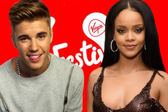 Rihanna and Justin Bieber confirmed as headline acts for V Festival 2016