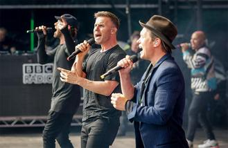 Take That join Sigma at BBC Radio 1's Big Weekend Exeter 2016