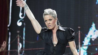 Pink gets hair dye out for record