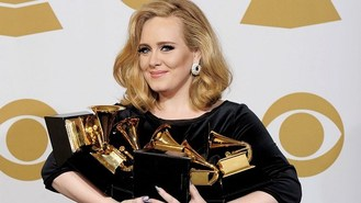 Adele wins six awards at Grammys
