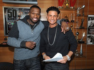Jersey Shore star joins 50 Cent