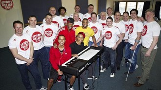 JLS coach rugby stars as singers