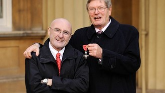 Phil Collins flies in for bro's MBE
