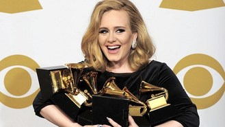 Adele 'overwhelmed' by Grammys
