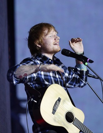 Ed Sheeran tops love songs poll