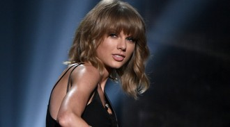 Taylor Swift spotted backstage at 'boyfriend' Calvin Harris' gig